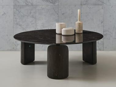 Table basse ronde en marbre TAULA | Table basse ronde