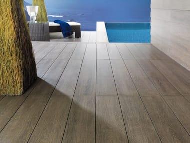 Indoor/outdoor porcelain stoneware flooring with wood effect TAVOLA