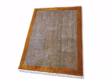 Solid-color handmade rectangular rug TAY