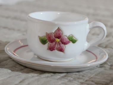 Ceramic tea cup with saucer PRIMAVERA ROSA | Tea cup
