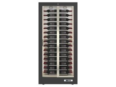 Freestanding aluminium Refrigerated display cabinet 2 doors with glass door TECA 10
