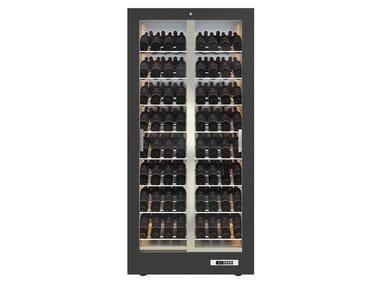 Freestanding aluminium Refrigerated display cabinet 2 doors with glass door TECA 12