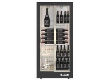 Freestanding aluminium Refrigerated display cabinet 2 doors with glass door TECA 14