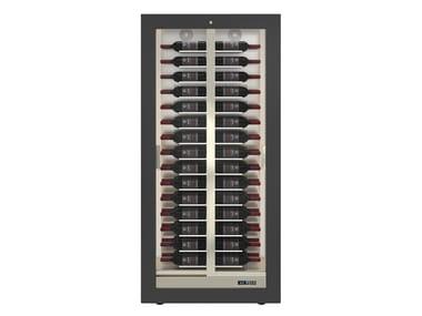 Built-in aluminium wine cooler with built-in lights TECA B 10
