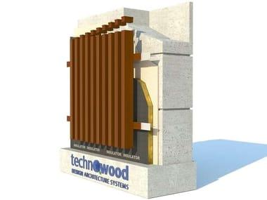 Aluminium Ventilated facade TECHNOWOOD PROFILE FAÇADE SYSTEM