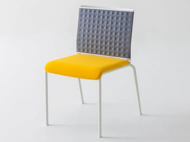 Chair with thermoformed back TECKEL T