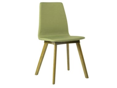 Fabric chair with beech legs TECLA SE01 BASE 10