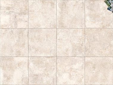 Porcelain stoneware outdoor floor tiles with stone effect TEGEL ANTICO BIANCO