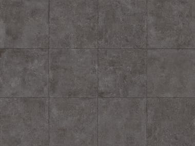 Porcelain stoneware outdoor floor tiles with stone effect TEGEL BLACK