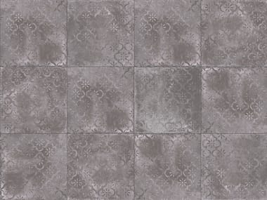 Porcelain stoneware outdoor floor tiles with stone effect TEGEL MOON DECORO
