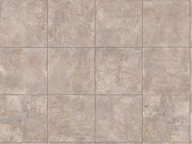 Porcelain stoneware outdoor floor tiles with stone effect TEGEL NOCCIOLA