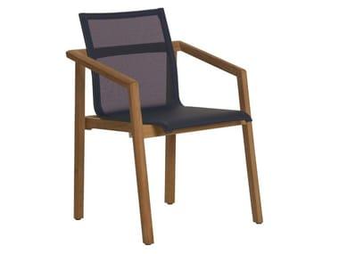 Sedia da giardino in Batyline® con braccioli TEKURA | Sedia in Batyline®