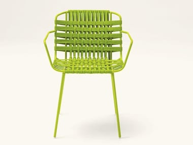 Synthetic fibre chair with armrests TELAR | Chair with armrests