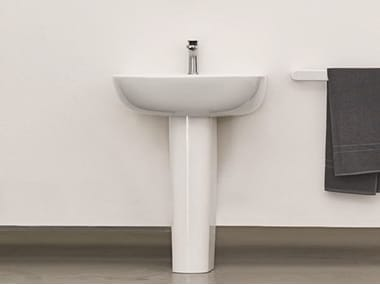 Pedestal ceramic washbasin TEN | Pedestal washbasin