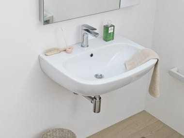 Wall-mounted ceramic washbasin TEN | Wall-mounted washbasin
