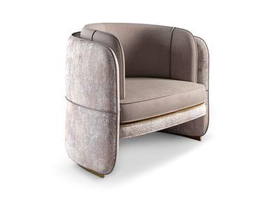 Velvet armchair with armrests TENNESSEE | Armchair