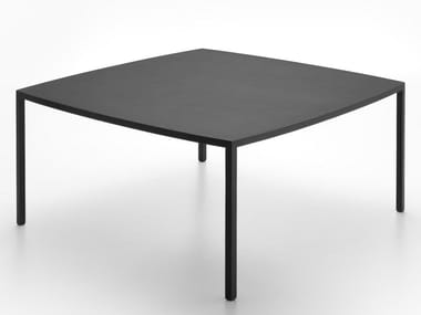 Square reconstructed stone table TENSE CURVE | Square table