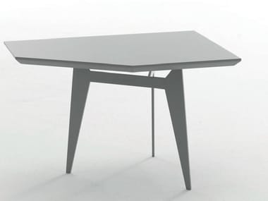 Low powder coated steel coffee table TEOREMA