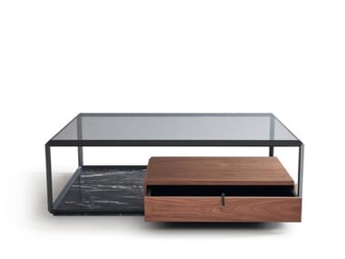 Low coffee table with storage space TEOREMA | Coffee table