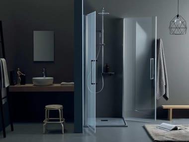 Box doccia angolare con porta a battente TEPB42 + TEPB42 | Box doccia con porta a battente