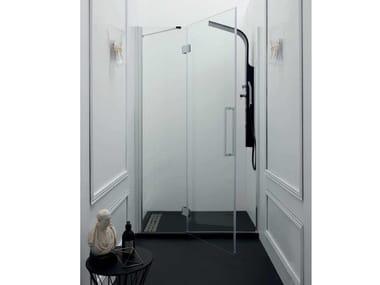Box doccia a nicchia con porta a battente TEPB43 | Box doccia a nicchia