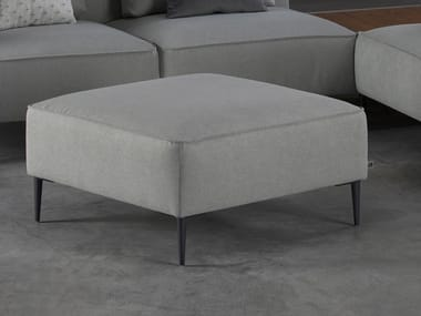 Upholstered square fabric pouf TERA | Pouf