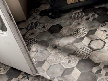 Pavimento/rivestimento in gres porcellanato a tutta massa TERRA - ANTRACITE