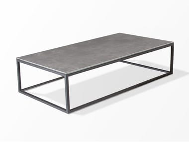 Low rectangular ceramic coffee table TERRA | Coffee table