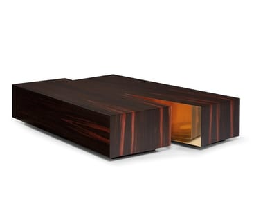 Low rectangular coffee table TERRA
