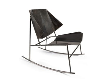 Rocking iron garden armchair TERRA | Rocking armchair