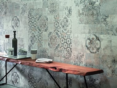 Indoor white-paste wall tiles TERRACRUDA