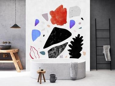Washable Digital printing wallpaper TERRAZZO