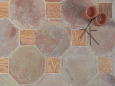 Indoor/outdoor quarry wall/floor tiles NATURAL TERRACOTTA