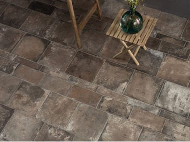 Porcelain stoneware wall/floor tiles with terracotta effect TERRE NUOVE DARK