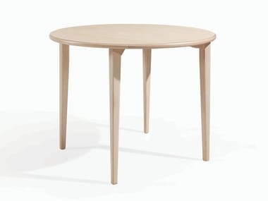 Round wooden dining table TESS RED