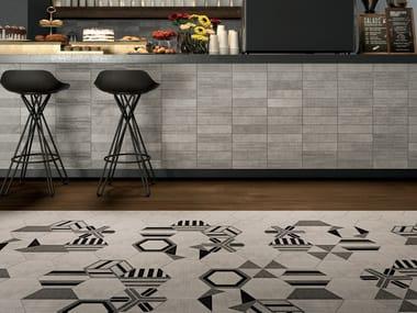 Rivestimento / pavimento in gres porcellanato TEXTILE SILVER