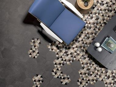 Rivestimento / pavimento in gres porcellanato TEXTILE TAUPE