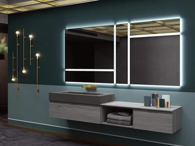 Wall-mounted vanity unit with mirror THAI 316