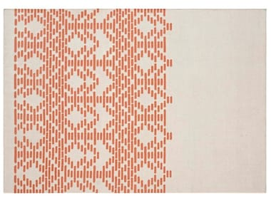 Handmade rectangular wool rug with geometric shapes THAY TAUPE