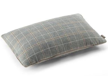 Check rectangular wool cushion LORO PIANA INTERIORS | Rectangular cushion