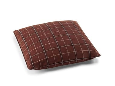 Check square wool cushion THE DECORATIVE CUSHIONS | Square cushion