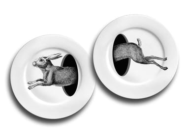 Porcelain plates set THE HARE