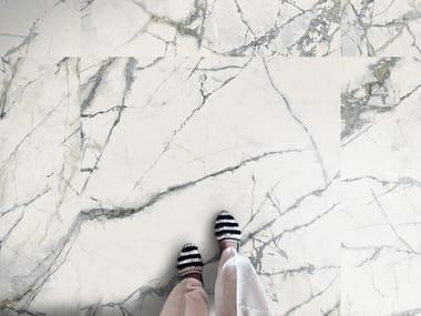 Pavimento/rivestimento in gres porcellanato effetto marmo THE ROOM - INV WH