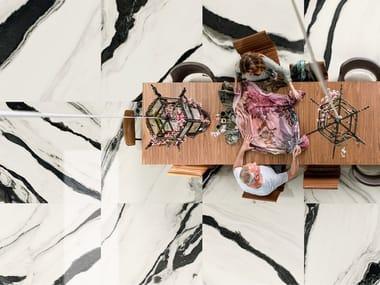 Pavimento/rivestimento in gres porcellanato effetto marmo THE ROOM - PAN WH