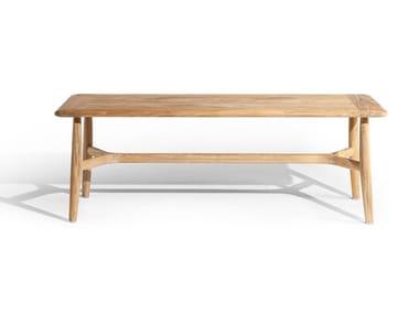 Rectangular teak garden table THE SECRET GARDEN | Teak table
