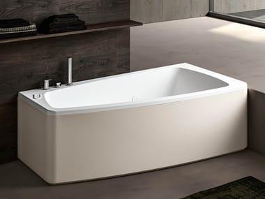 Vasca da bagno asimmetrica idromassaggio in acrilico THEA 160