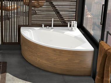 Vasca da bagno angolare idromassaggio in acrilico THEA   Vasca da bagno angolare