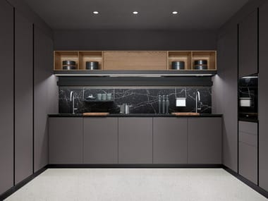 Kitchen with Melamine-faced chipboard door THEA - LAYOUT 01