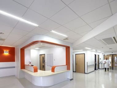 Ceiling panels for healthcare facilities THERMATEX® Aquatec Medical