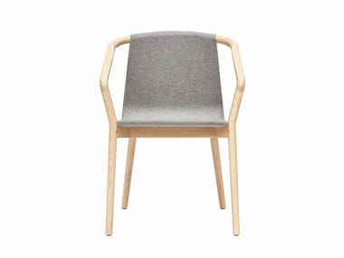 Fabric chair with armrests THOMAS | Fabric chair